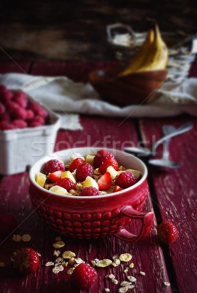 Sani colazione fatto in casa cereali Foto d'archivio © saharosa