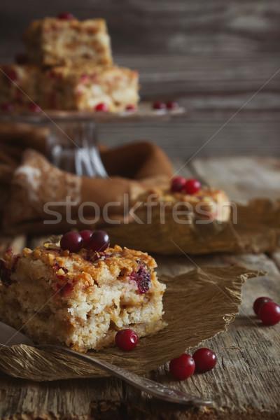 slices of cake with cranberries Stock photo © saharosa