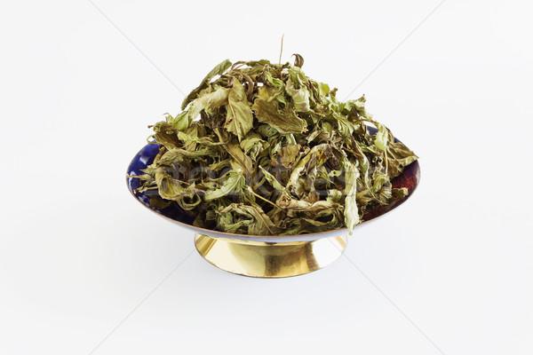 Essiccati menta foglie bianco tè Foto d'archivio © saharosa