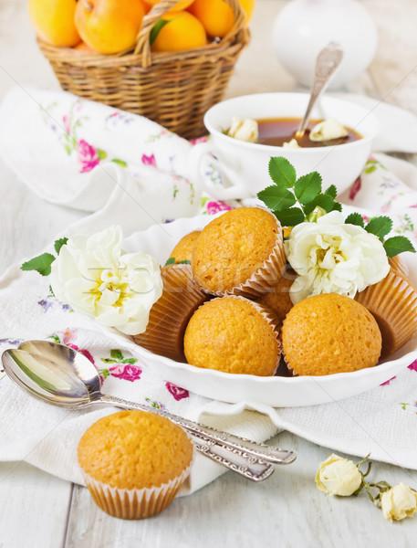 cupcakes and tea Stock photo © saharosa