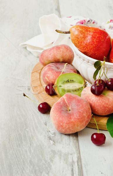 различный свежие фрукты старые здоровья диета Сток-фото © saharosa