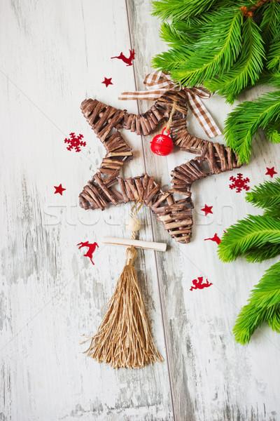 クリスマス 星 リボン 鐘 コピースペース ツリー ストックフォト © saharosa