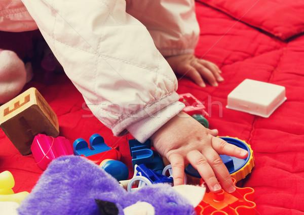 çocuk oynama oyuncaklar sokak kaygısız arka plan Stok fotoğraf © saharosa