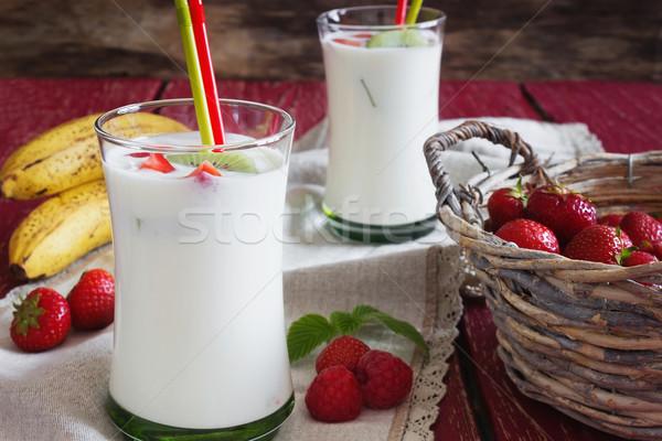 Homemade organic yogurt  Stock photo © saharosa