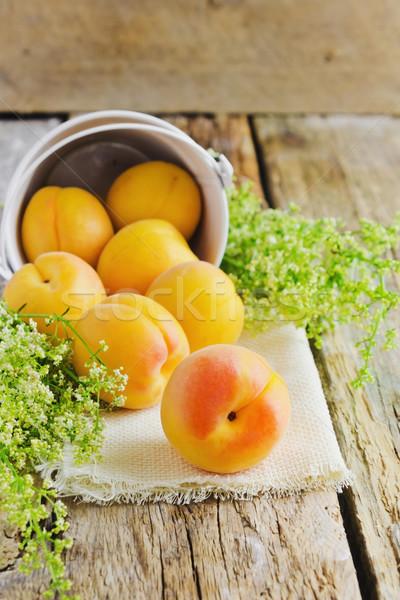 ripe apricots Stock photo © saharosa