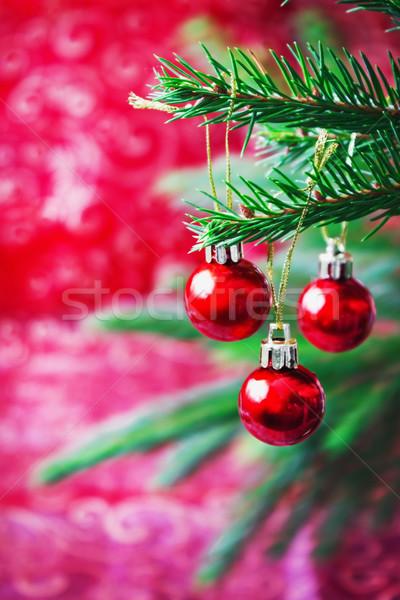 Navidad pequeño rojo colgante ataviar Foto stock © saharosa