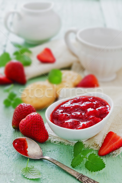 strawberry jam Stock photo © saharosa