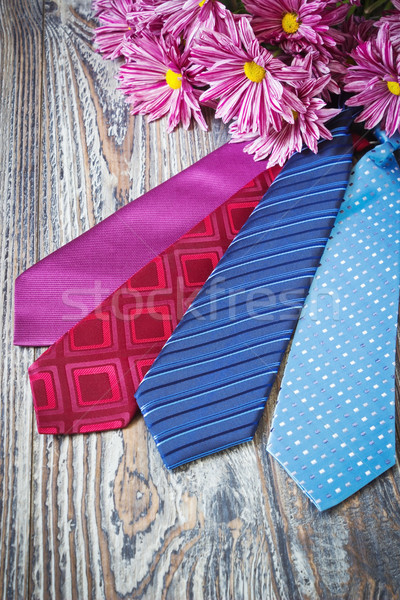 different men's neckties Stock photo © saharosa