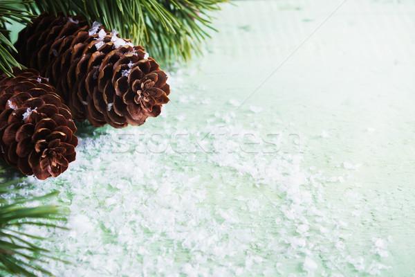 Navidad abeto atención selectiva espacio de la copia Foto stock © saharosa