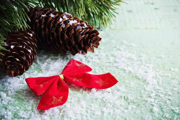Noel süslemeleri dekorasyon ahşap tatil olaylar Stok fotoğraf © saharosa
