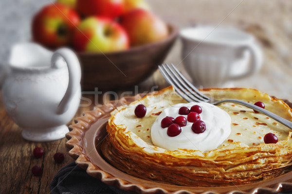 freshly baked pancakes Stock photo © saharosa