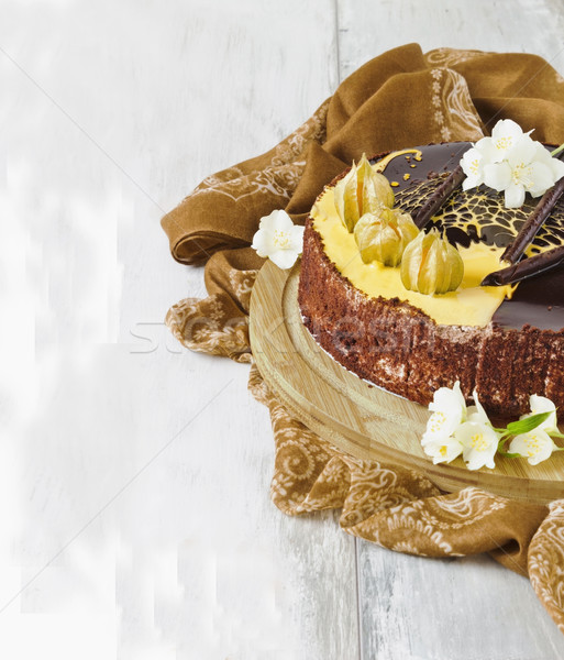chocolate cake Stock photo © saharosa