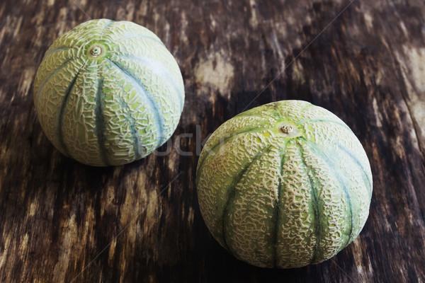 Piccolo strisce melone due tavolo in legno Foto d'archivio © saharosa