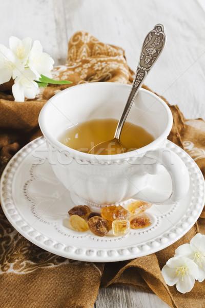 cup of hot jasmine tea  Stock photo © saharosa