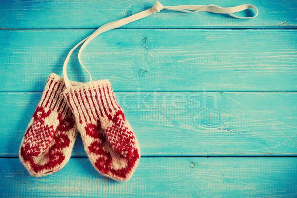 traditional children's mittens Stock photo © saharosa