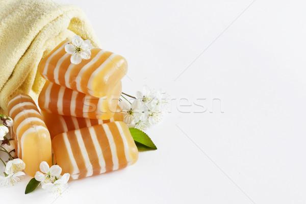 баров мыло цветочный аромат белый Сток-фото © saharosa