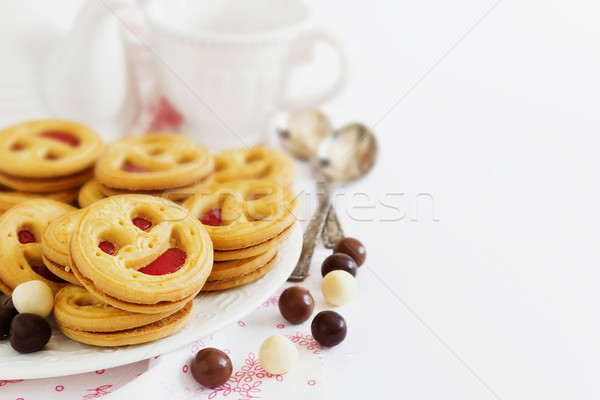 biscuits with jam Stock photo © saharosa