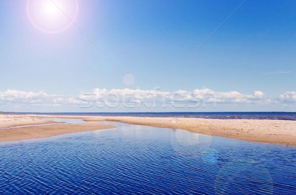 sunny beach Stock photo © saharosa