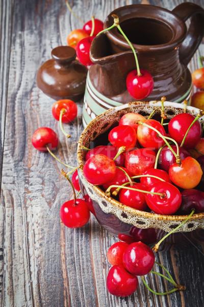 cherries in a bowl Stock photo © saharosa