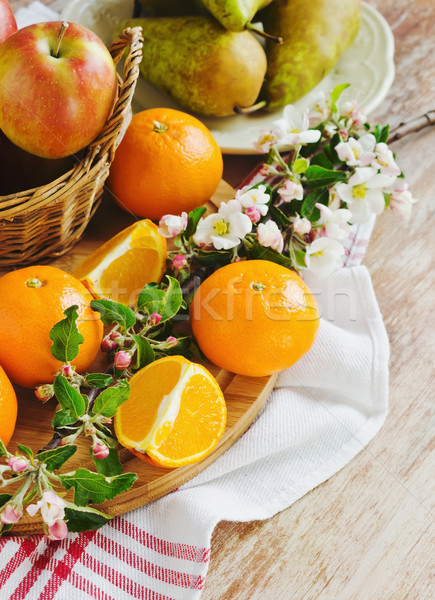 различный полезный плодов здоровое питание диета фрукты Сток-фото © saharosa