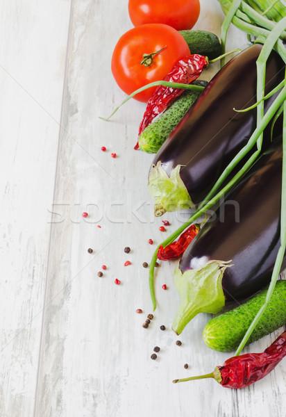 Olgun domates salatalık soğan sıcak Stok fotoğraf © saharosa