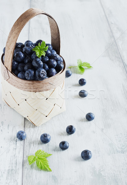 fresh blueberries Stock photo © saharosa