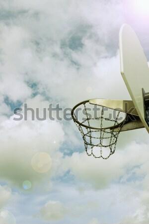 basketball hoop and sky Stock photo © saharosa