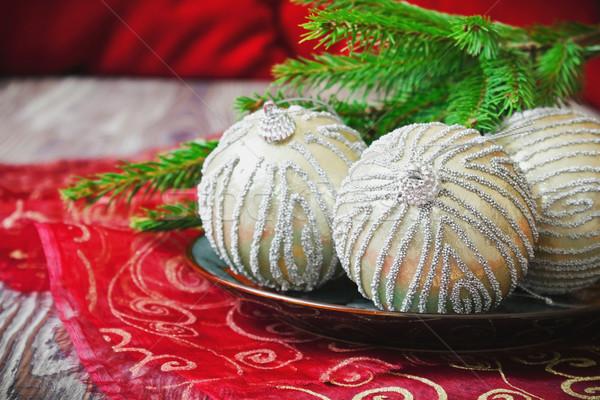 bright christmas tree balls Stock photo © saharosa