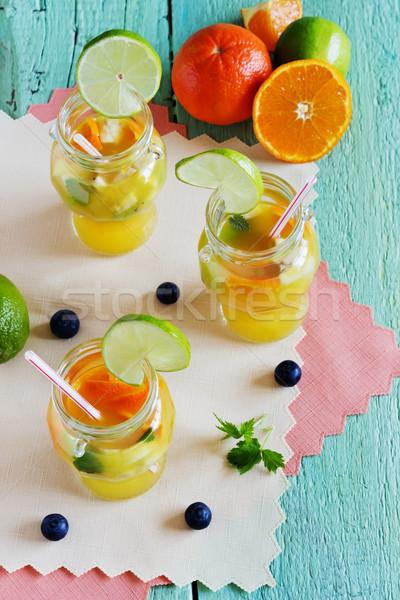Pomarańczowy napój bezalkoholowy owoców zielone diety Zdjęcia stock © saharosa