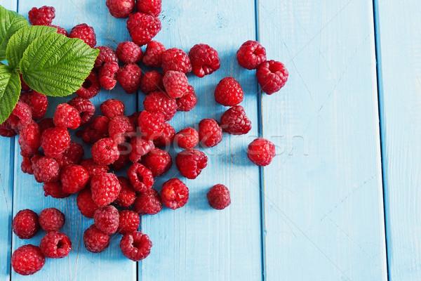 Ripe tasty raspberries Stock photo © saharosa