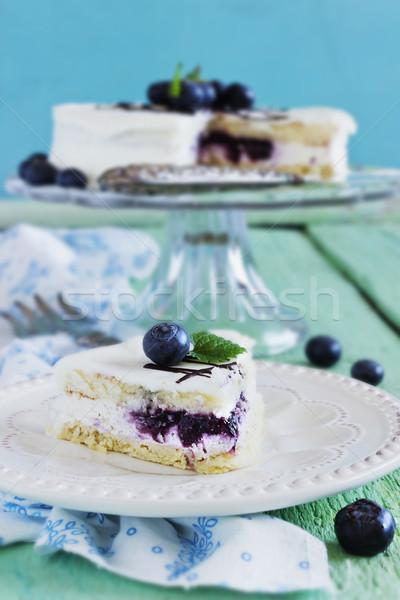 blueberry cake Stock photo © saharosa
