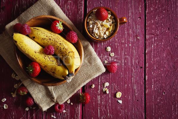 Organik sağlıklı kahvaltı ev yapımı tahıl Stok fotoğraf © saharosa