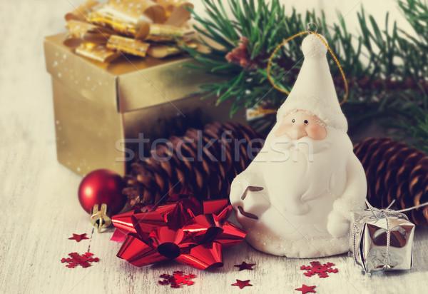 Papá noel Navidad juguetes blanco idea Foto stock © saharosa