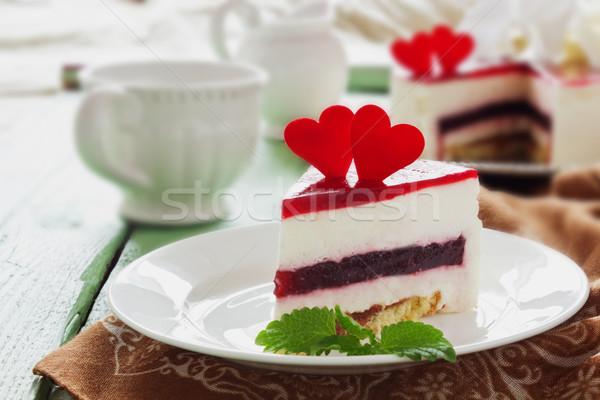 piece of celebratory cake  Stock photo © saharosa