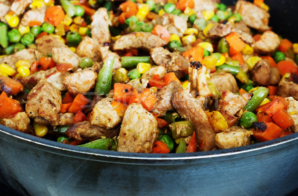 roast meat with vegetables Stock photo © saharosa