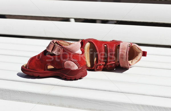 children's summer sandals Stock photo © saharosa
