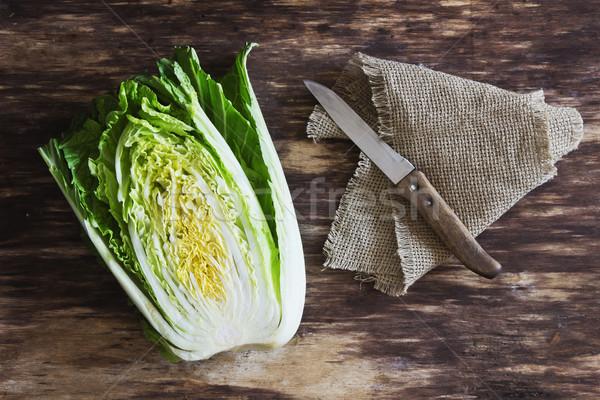 Сток-фото: свежие · китайский · капуста · старые · овощей