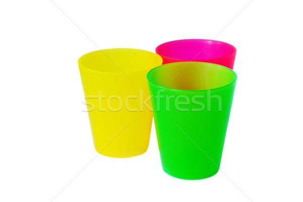 Renkli plastik limonata beyaz Stok fotoğraf © saharosa