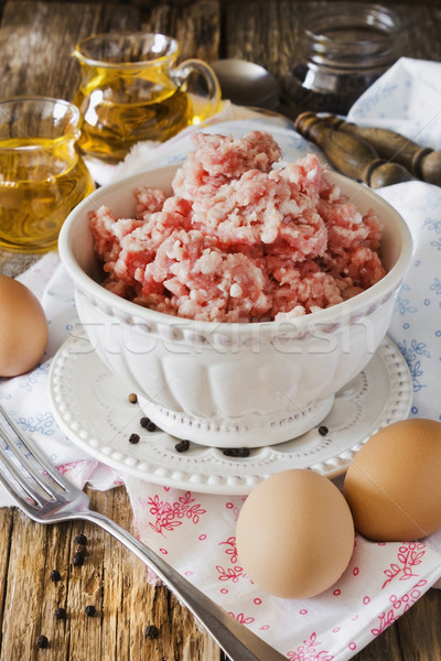 minced meat in a bowl  Stock photo © saharosa