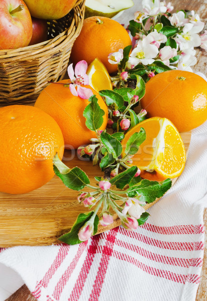 Sani frutta tavola salute dieta fiori Foto d'archivio © saharosa
