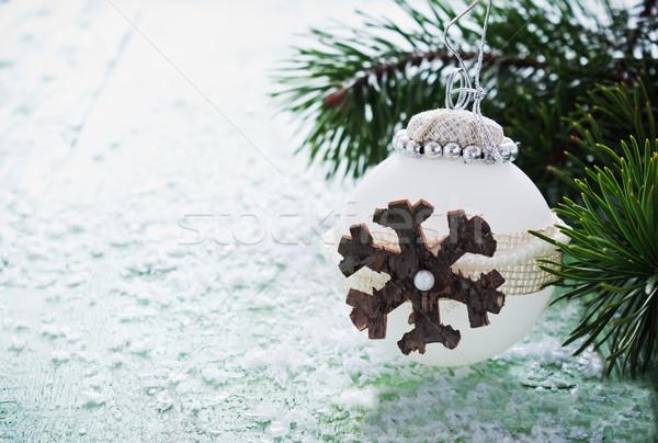 Noel top ahşap seçici odak bo dizayn Stok fotoğraf © saharosa