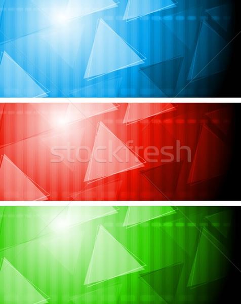 Сток-фото: ярко · Tech · Баннеры · аннотация · технической · прибыль · на · акцию