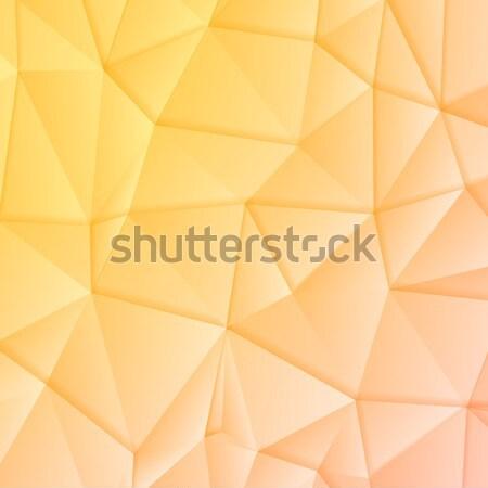 Abstract polygonal vector geometric design Stock photo © saicle