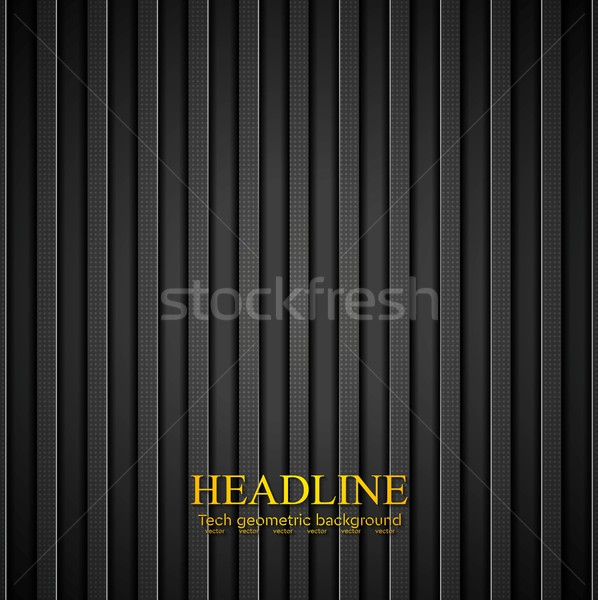 Dark concept stripes technology abstract background Stock photo © saicle