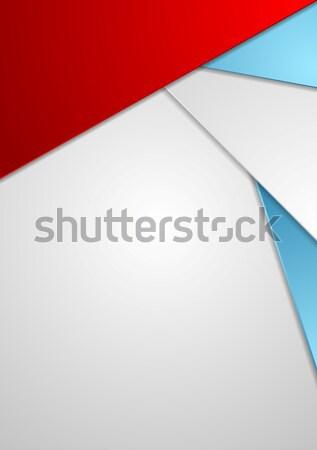 Minimal tech corporate flyer design Stock photo © saicle