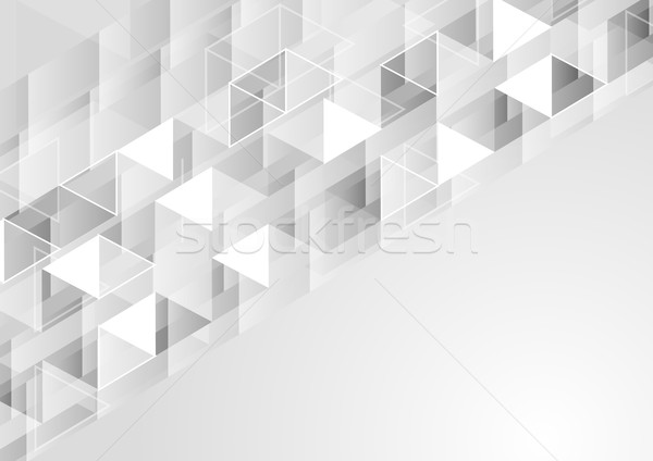Szürke mértani pixeles vektor tech terv Stock fotó © saicle