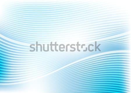 Foto stock: Resumen · vibrante · azul · olas · líneas · patrón