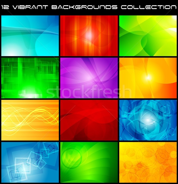 Abstract backgrounds collection - eps 10 Stock photo © saicle