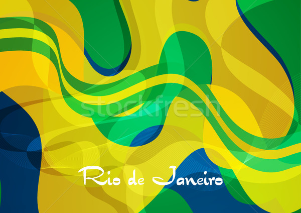 Abstract golvend patroon Brazilië vector 2016 Stockfoto © saicle