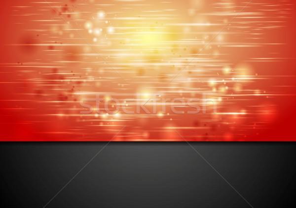 Vermelho brilhante faíscas vetor projeto abstrato Foto stock © saicle